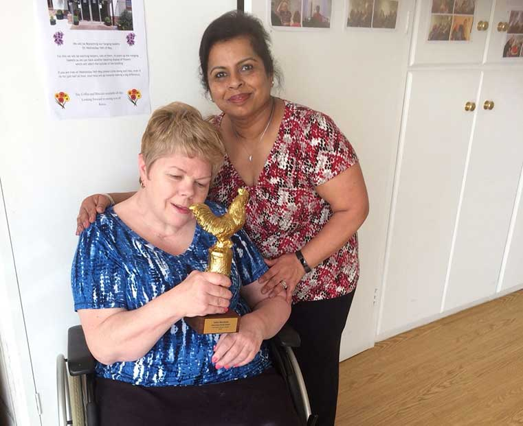 Usha's care home support