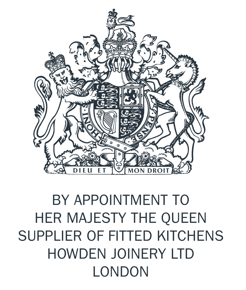 By Appointment to Her Majesty The Queen - Supplier of Fitted Kitchens - Howden Joinery Ltd London